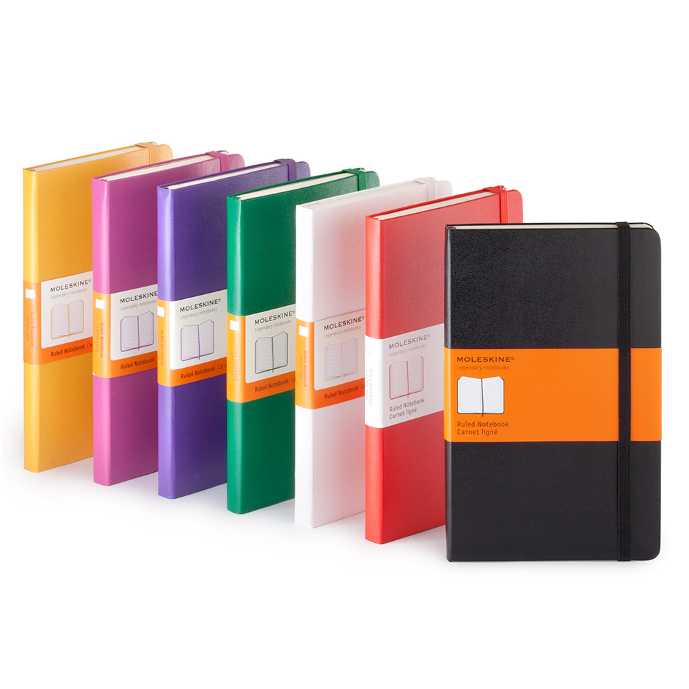MOLESKINE CLASSIC COLLECTION SQUARED NOTEBOOK LARGE HARD COVER 5x8.25