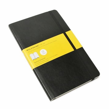 Moleskine Classic Large Soft Cover Squared Notebook (5 x 8.25)