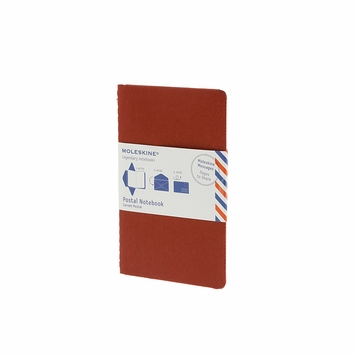 Moleskine Messages Large Postal Notebook (4.5 x 6.75) in Red