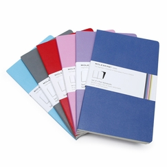 Moleskine Volant Large Plain Notebook (Set of 2) (5 x 8.25) in Sky Blue/Robin