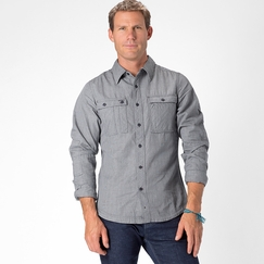 Organic Nau Journeyman Long Sleeve in Indigo Stripe