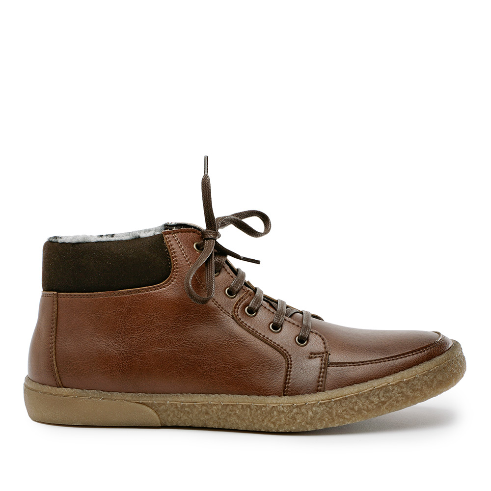Avery Faux Suede Boot with Lug Sole by Novacas - veganchic.com
