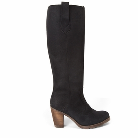 Novacas Chloe Faux Suede Tall Boot in Black
