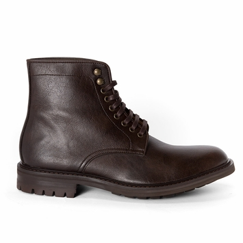 Novacas Ian Lace Up Boot in Dark Brown