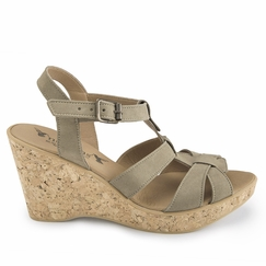 Novacas Natasha Wedge Sandal in Beige