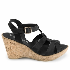 Novacas Natasha Wedge Sandal in Black