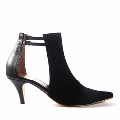 Olsen Haus Knowing Shoe in Black Faux Leather/Suede