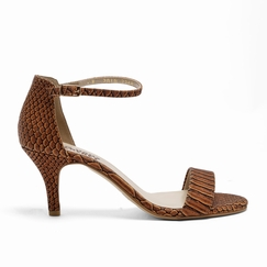 Olsen Haus Simple Sandal in Faux Reptile