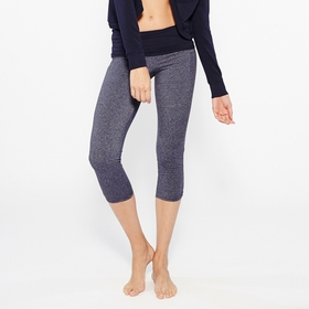 Organic Om Girl Ahimsa Capri in Navy