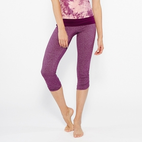 Organic SALE / Om Girl Ahimsa Capri in Boysenberry