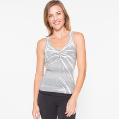 Om Girl Bhatki Tank Origami in Grey/White