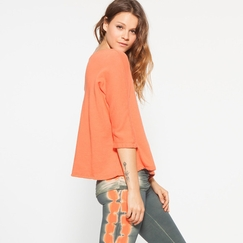 Om Girl Devi Sweatshirt in Orange Julius