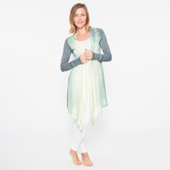 Om Girl Divine Cardi in Vineyard Green