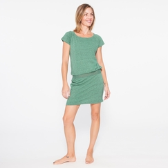 Om Girl Flex Dress in Vineyard Green
