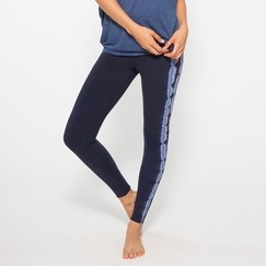 Organic Om Girl Hatha Legging Free Spirit Stripe in Modern Blue/Liquid Blue