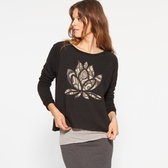 Om Girl Lotus Pullover in Downtown
