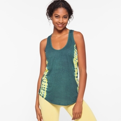 Om Girl Mindful Racer Free Spirit Stripe in Martini Olive/Lemon Drop
