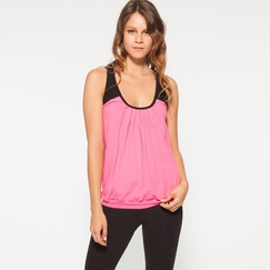 Organic Om Girl Mysore Tank in Powerful Pink