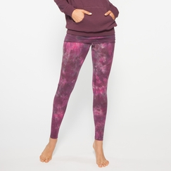 Organic Om Girl Nomad Legging Watercolor in Love Potion