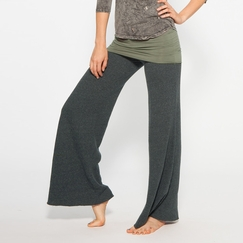 Om Girl Nomad Pant Overdyed Graphite in Highline Green