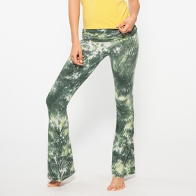 Organic Om Girl Practice Pant Snake Charmer in Gorgeous Green/Tempting Pear
