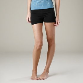 Organic Om Girl Practice Short in Black