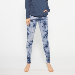 Organic Om Girl Printed Nomad Legging in Blue Note