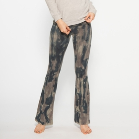 Organic Om Girl Printed Practice Pant in Woodland