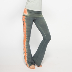 Organic Om Girl Printed Practice Pant in Highline Green