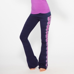 Organic Om Girl Printed Practice Pant in Blue Note