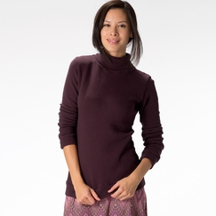 Om Girl Satya Funnel Sweatshirt in Aubergine