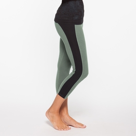 Organic Om Girl Sequence Capri in Martini Olive