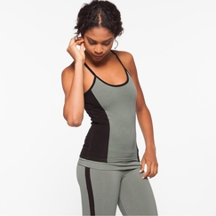 Organic Om Girl Sequence Tank in Martini Olive