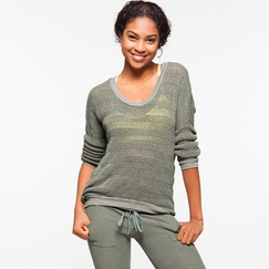 Om Girl Shanti Sweater in Martini Olive