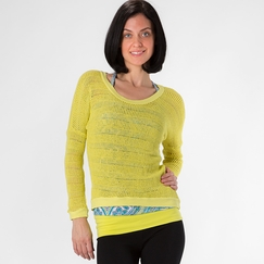 Om Girl Shanti Sweater in Lemon Drop
