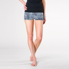 Organic Om Girl Surreal Wash Practice Short in Midnight Blue