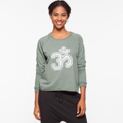 Om Girl Varsity Om Tee in Martini Olive