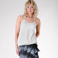 Om Girl Yogini Tank in Moonrise