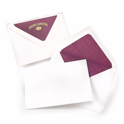 Original Crown Mill Silk Tissue Note Cards (4 x 6) in Bordeaux