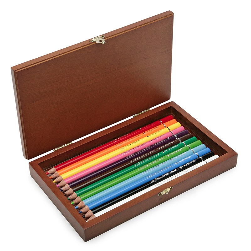 Palomino Artist Color Pencils Wood Box (12 ct.) Eco Paper at Vickerey