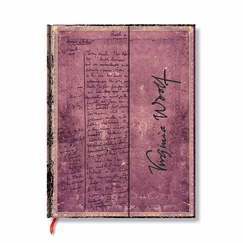 Paperblanks Embellished Virginia Woolf Manuscript Wrap Journal (7 x 9) in Ruled (lined pages)