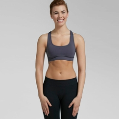 Phat Buddha Greenwich Bra Top in Dark Grey