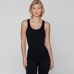Phat Buddha Lafayette Cut Out Racer Back Tank in Black
