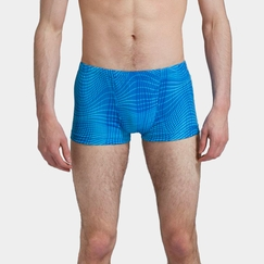 Phat Buddha Perry Short in Aqua Print