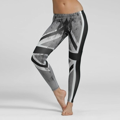 Phat Buddha Theatre District Leggings in Union Jack Print