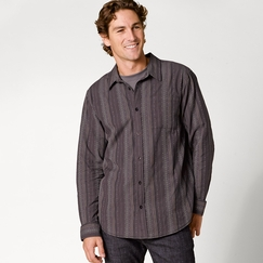 Organic Prana Carillo Long Sleeve in Dark Eggplant