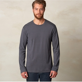 Organic Prana Decco Long Sleeve Crew in Charcoal