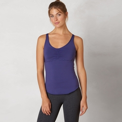 Eco Prana Dreaming Top in Indigo Pinstripe