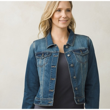 Organic Prana Dree Denim Jacket in Antique Blue