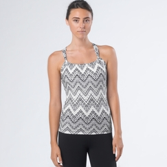 Eco Prana Eco Quinn Printed Top in Black Tempo